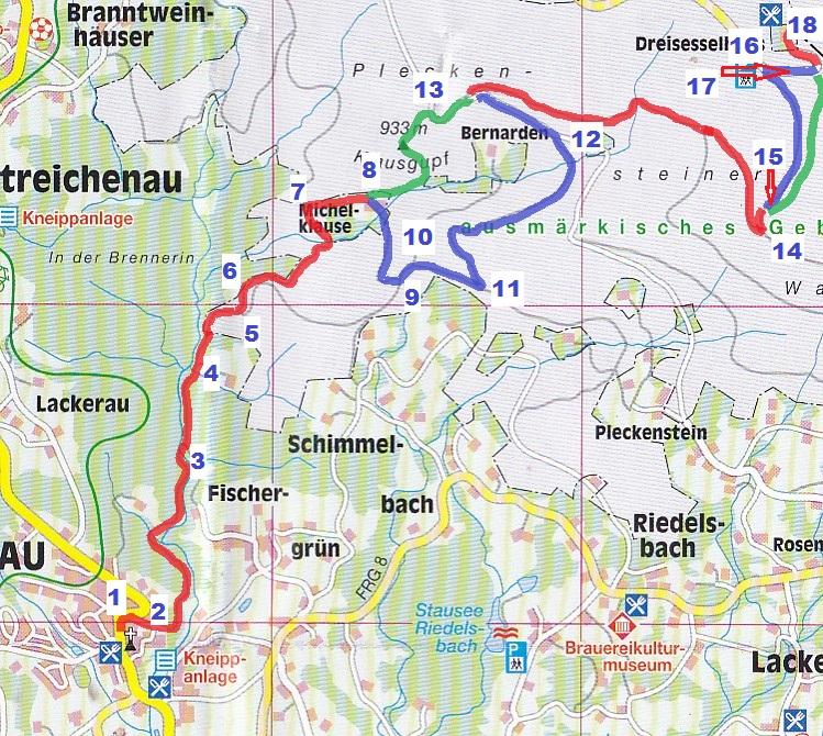 Strecken-Laeufer-Radfahrer